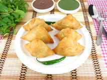 Samosas Foto de Stock Royalty Free