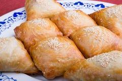 Samosas cuits au four frais Photo libre de droits