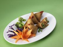 Samosas filled with vegetables Royalty Free Stock Photography