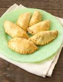 Samosas fried indian vegetable pastries Stock Photo