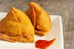 Samosas Indian snack food Royalty Free Stock Photo