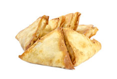 Samosas indien d'isolement sur #5 blanc Photo libre de droits