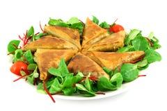 Samosas on a plate Stock Photo