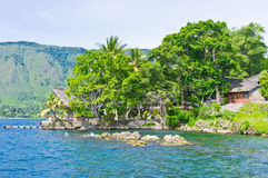Samosir island in Lake Toba, Sumatra. Samosir Island, is a large volcanic island in Lake Toba, Sumatra, Indonesia, Southeast Asia Royalty Free Stock Photos