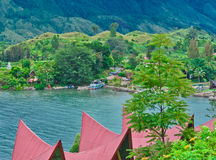 Samosir Island on Lake Toba, Sumatra Royalty Free Stock Image
