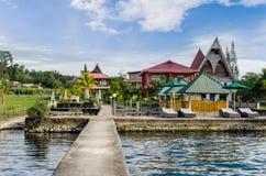Samosir island in Lake Toba, Sumatra Indonesia Royalty Free Stock Photo