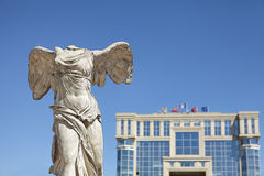 Samothrace victory. Statue ok samothrace victory in montpellier stock image
