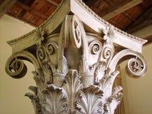 Samothraki island in a classic column Royalty Free Stock Photography