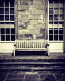 Samotna ławka fotografia stock