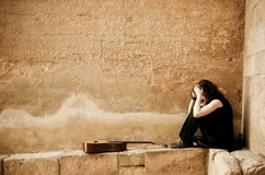 samotna artysta ulica zdjęcie royalty free
