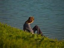 samotna dziewczyna Zdjęcie Royalty Free