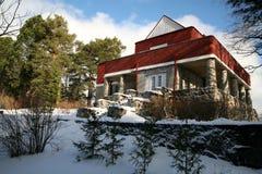 samotna lasowa domowa stara zima Fotografia Royalty Free