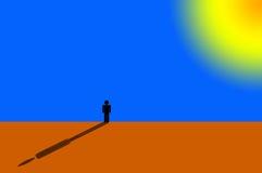 samotna pozycja ilustracja wektor