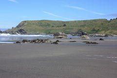 Samotna rancho plaża zdjęcia royalty free