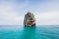 Samotna wyspa na dzikim oceanie Obrazy Stock