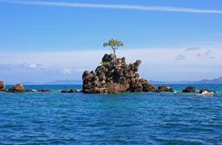 Samotna wyspa w Pacyfik zdjęcia royalty free