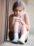 Samotna zmartwiona dziewczyna Obraz Royalty Free