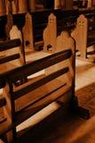 samotne ławki sepiowe Zdjęcia Royalty Free