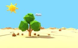 samotne drzewo desert Fotografia Stock
