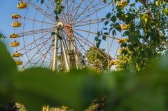 Samotne huśtawki w dziecka ` s parku Fotografia Royalty Free