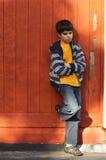 samotnej chłopiec śliczny super Zdjęcia Stock