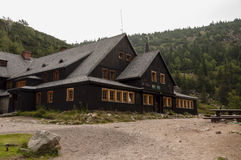 Samotnia, mountain hut in Karkonosze Giant Mountains, Poland. royalty free stock photo