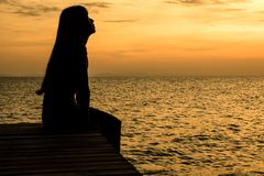 Samotnie na plaży Zdjęcie Stock