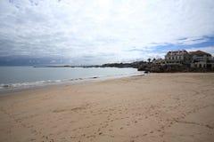Samotnie na plaży, Cascais Zdjęcie Stock
