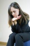 samotnie target2093_0_ dosyć smutnych czekania kobiety potomstwa Zdjęcie Stock