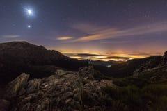 Samotnie z księżyc zdjęcie royalty free