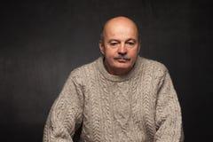 Samotność i depresja w starszych osobach fotografia stock