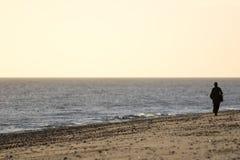 samotność Samotny Plażowy piechur obrazy royalty free