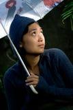 samotności niepewna kobieta Fotografia Stock