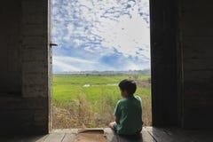 samotny chłopiec Obraz Stock