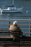 samotny człowiek Fotografia Royalty Free