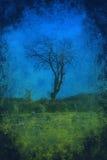 Samotny drzewny grunge tło Zdjęcie Royalty Free