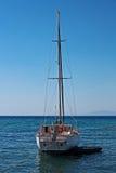samotny jacht Obraz Stock
