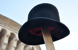 Samotny kapelusz fotografia royalty free
