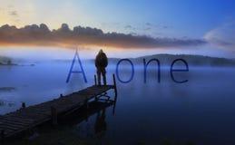 Samotny mężczyzna ilustracji