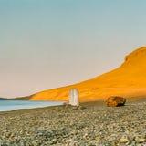 Samotny markier Arktyczny Zdjęcie Royalty Free