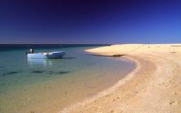 samotny na plaży Zdjęcia Stock