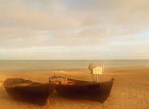 samotny na plaży obraz royalty free
