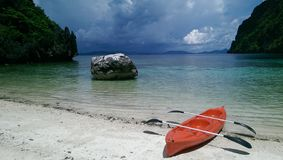 samotny na plaży Zdjęcie Stock