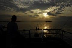 Samotny rybak Obrazy Stock