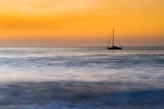 samotny statek Fotografia Stock