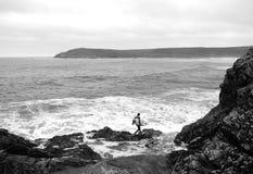 Samotny surfingowiec Fotografia Royalty Free