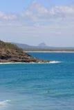 Samotny surfingowiec w wodzie Zdjęcie Royalty Free
