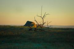 samotny wschód słońca Zdjęcia Royalty Free