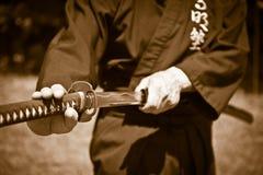 Samouraï avec l'épée Photo stock
