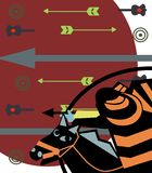 samouraïs illustration libre de droits